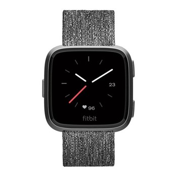 Fitbit Versa Speical Edition Health & fitness smartwatch with heart rate monitor, W4.1 x D25.6cm, charcoal woven