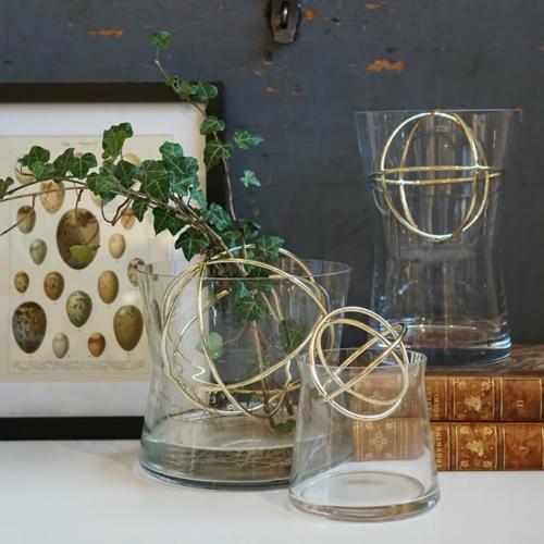 Sphere Small vase, Dia10 x 13.5cm, Gold