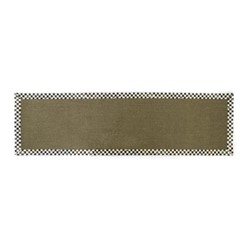 Courtly Check Rug, W76.2 x L274.32cm, black & white, brown