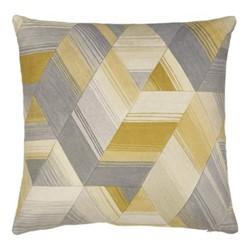 Axal Square cushion, 45cm, ochre