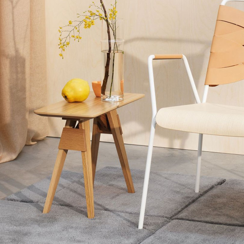 Arco Small table, H53 x W25cm, Oak