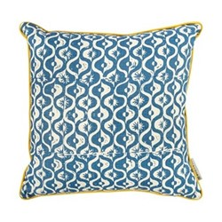 Small Medallion Cushion, 50 x 50cm, azure