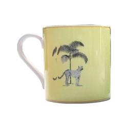 Harlequin - Yellow Cheetah Mug, yellow