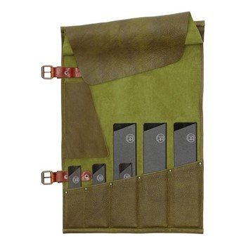 5 Pocket knife roll (knives not included), H51 x W33.5cm, forest green