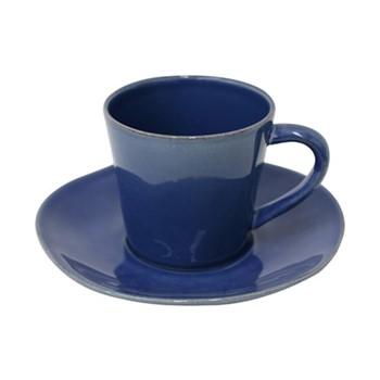 Nova Set of 6 teacups and saucers, 19cl, denim