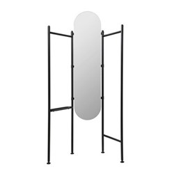 Vala Floor mirror, 180 x 119 x 11cm, black