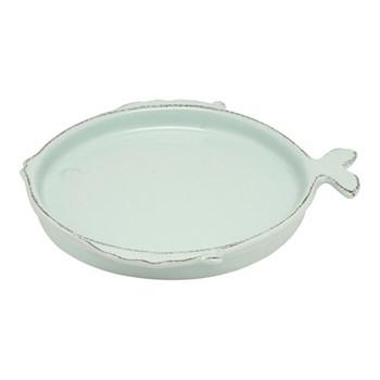 Marina Round platter, D36cm, aqua