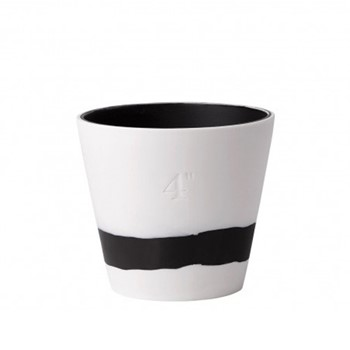 Burlington Planter, 10cm, black/white