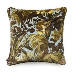 Limerence Large velvet cushion, 60 x 60cm, blue
