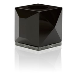 Ophelia T-light holder, L9 x H7.8 x D9cm, black/clear