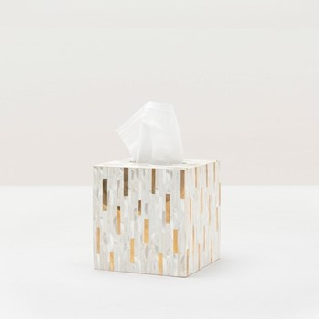 Cortona Tissue box, H15cm, white
