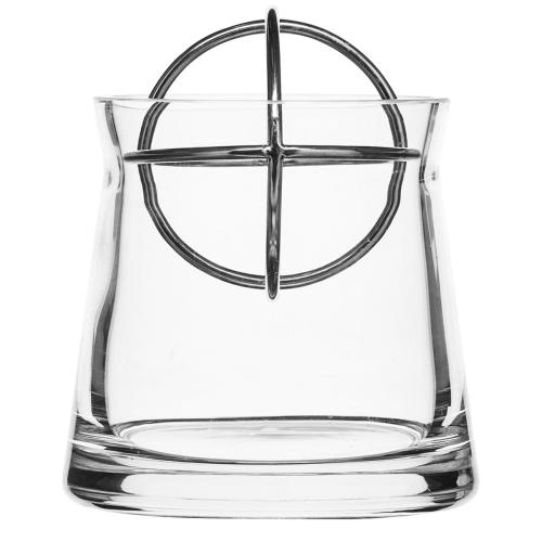 Sphere Small vase, Dia10 x 13.5cm, Stainless Steel