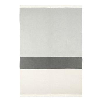Colour Block Merino woven throw, 190 x 140cm, grey