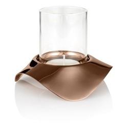 Drift Dusk Tealight holder, H8.5cm, copper