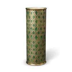 Fortuny Peruviano Vase, 11 x 30cm, gold/ green