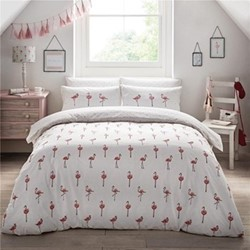 Flamingos Double size bedding set, 200 x 200cm, pink