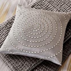 Motion Cushion, L45 x W45 x H10cm, silver