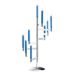 Stairway Chandelier, H66cm, silver plate