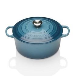 Signature Cast Iron Round casserole, 20 x 9cm - 2.4 litre, marine