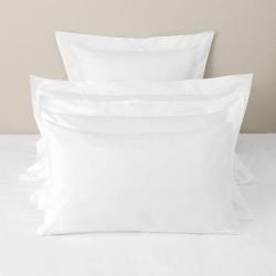 Savoy - 400 Thread Count Egyptian Cotton Super king pillowcase (no border), 50 x 90cm, White