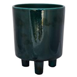 Pisa Planter, H16 x W19 x D19cm, Emerald