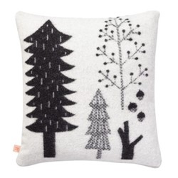 Forest Woven cushion, 48 x 48cm, black/white