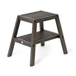 Slatted stool, H42 x W50.5 x D35.4cm, Dark Brown