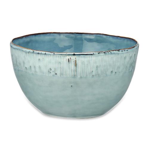Malia Serving Bowl, One Size, Dusty Blue