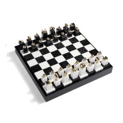 Games Chess set, 41 x 41 x 6cm, Black & White