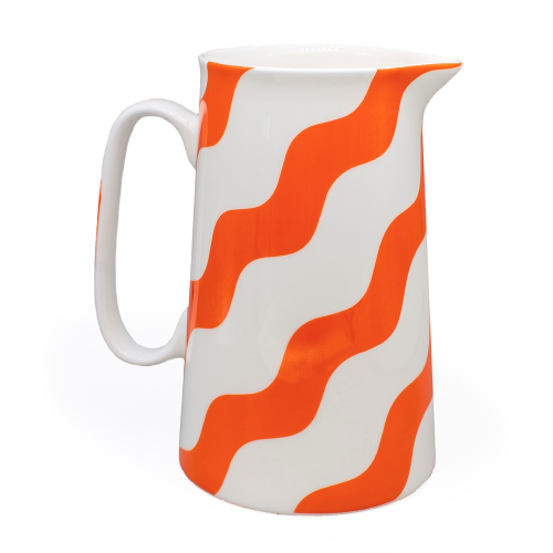 Scallop Collection Jug, H18cm, Orange