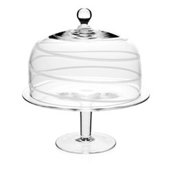 Studio - Bella Bianca Cake stand and dome, 32cm, white