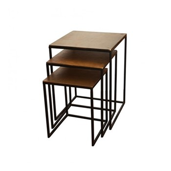 Set of 3 nesting tables, bronze