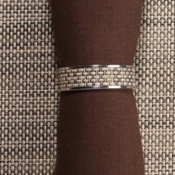 Mini Basketweave Napkin ring, 4cm, linen