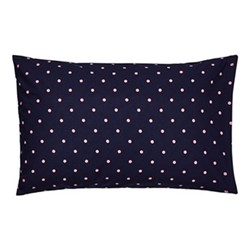 Beau Floral Standard pillowcase, L48 x W74 cm, navy