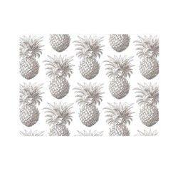 Pineapple Set of 4 placemats, 29 x 21cm, white/grey