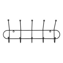 Farringdon Hook rail, H22 x D15 x W55cm, black