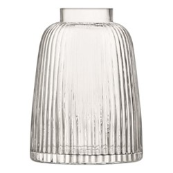 Pleat Vase, 26cm, clear