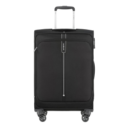 Popsoda Spinner expandable suitcase, 66 x 44 x 28/31cm, Black