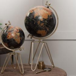 Ebu Large decorative globe, D 64 x 32cm, Antique Brass