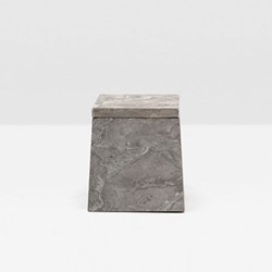 Veneto Canister, H11.5 x W10cm, gray polished marble
