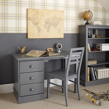 Pedestal Desk, H77 x W121 x D60cm, dark grey