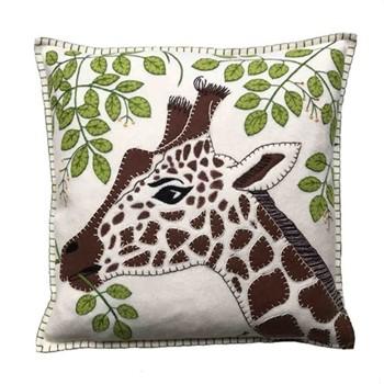 Tropical Paradise Cushion, Giraffe, 46 x 46cm, cream