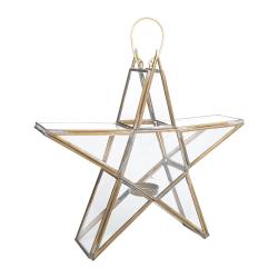 Sanwi Standing star, H26.5 x L28 x W7cm, Antique Brass