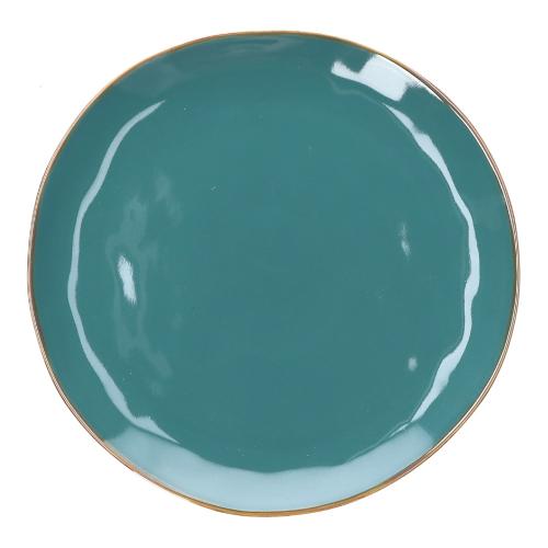 Concerto Pair of round platters, Dia32cm, Teal Blue