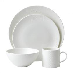 Gio 16 piece tableware set, White