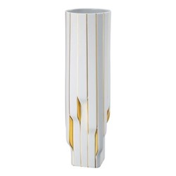 Strip by Zaha Hadid Vase, H45cm, white/gold