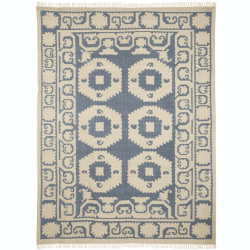Chelak Rug, 300 x 240cm, Indigo 100% Wool