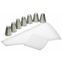 Sweetly Does It Icing set, Nylon With Stainless Steel Nozzles