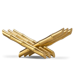 Bambou Bookrest, H17 x W36 x D15cm, gold