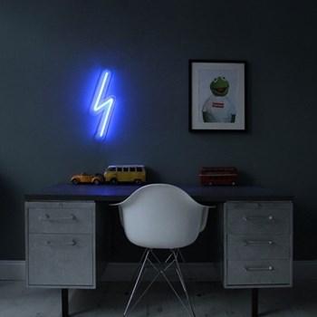 The Mini Bolt Neon light, W15 x L50cm, blue